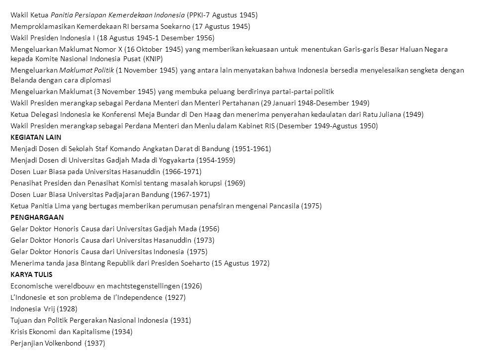 Wakil Ketua Panitia Persiapan Kemerdekaan Indonesia (PPKI-7 Agustus 1945)