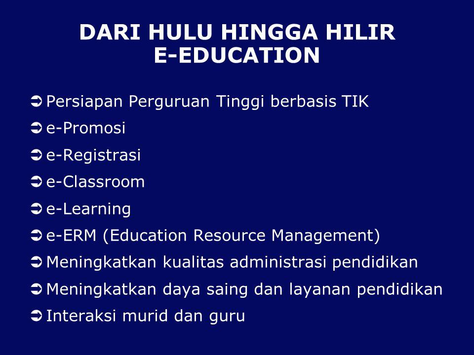 DARI HULU HINGGA HILIR E-EDUCATION