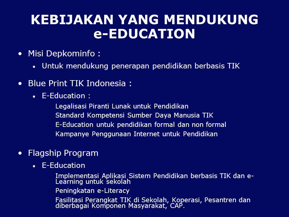 KEBIJAKAN YANG MENDUKUNG e-EDUCATION