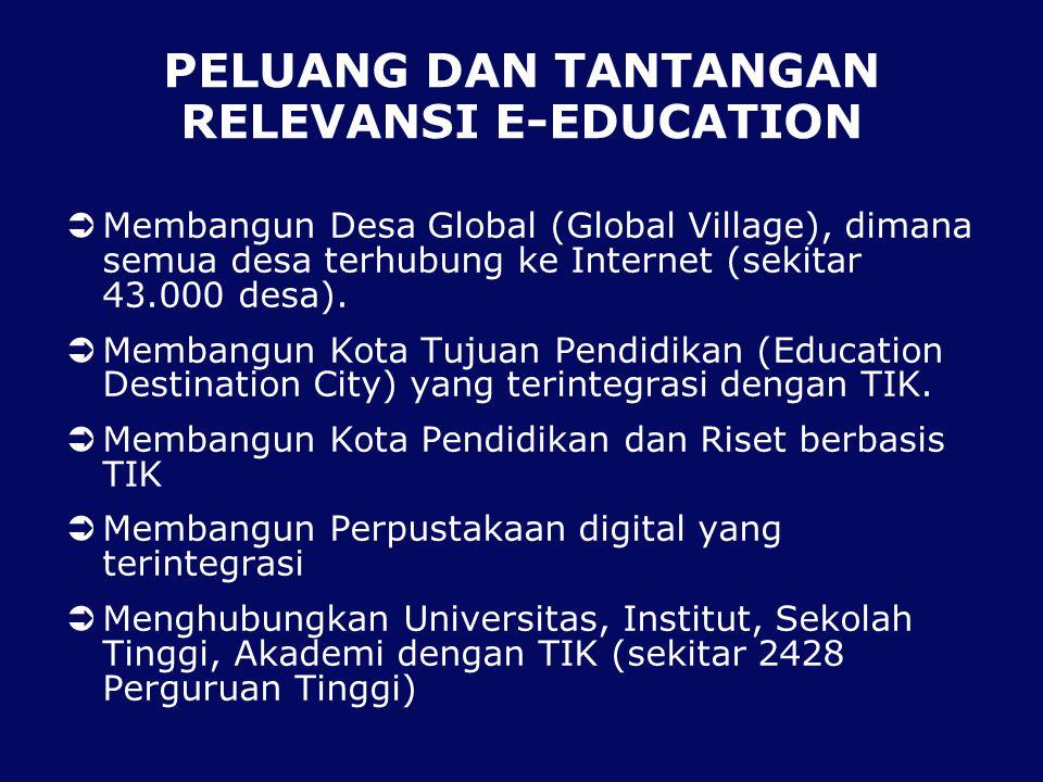 PELUANG DAN TANTANGAN RELEVANSI E-EDUCATION