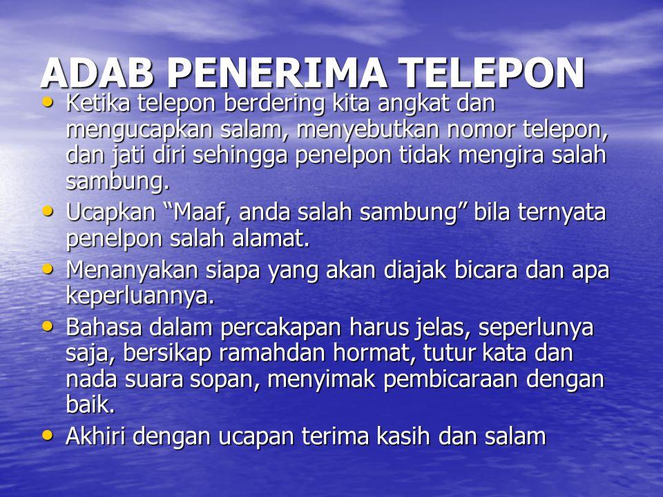 ADAB PENERIMA TELEPON
