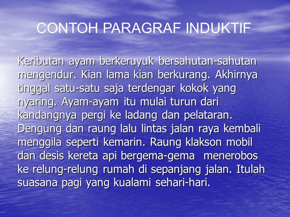 CONTOH PARAGRAF INDUKTIF