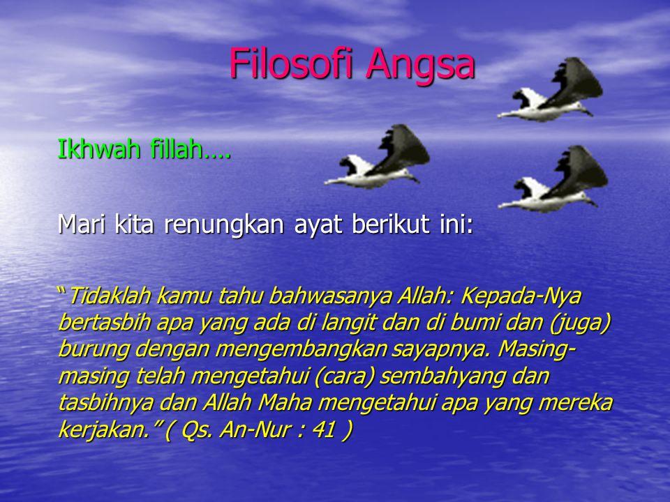 Filosofi Angsa Ikhwah fillah…. Mari kita renungkan ayat berikut ini: