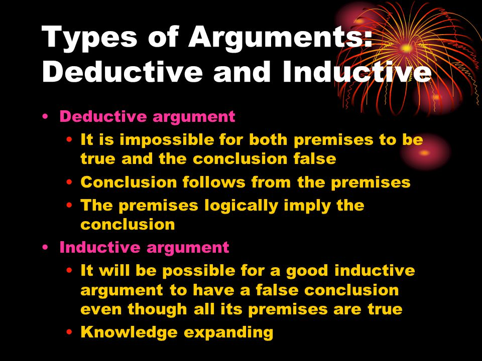 Types of Arguments: Deductive and Inductive