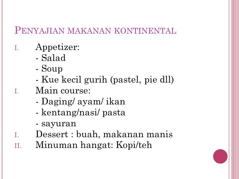 Penyajian makanan kontinental