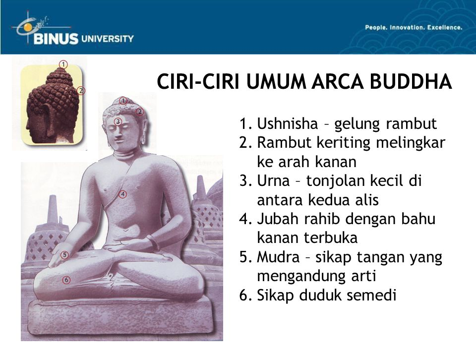 CIRI-CIRI UMUM ARCA BUDDHA