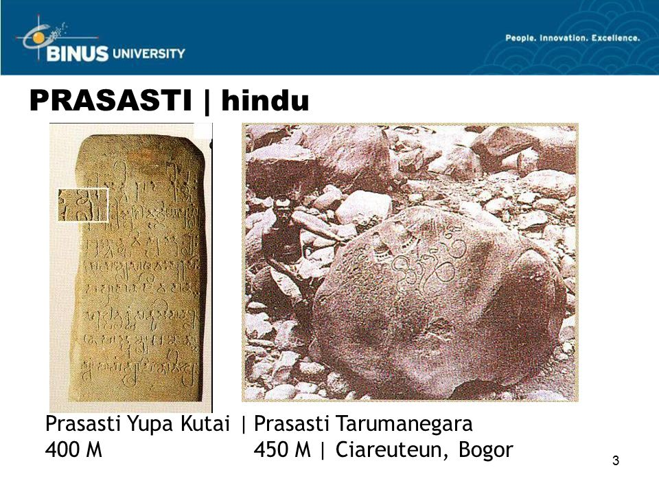 PRASASTI | hindu Prasasti Yupa Kutai | 400 M Prasasti Tarumanegara