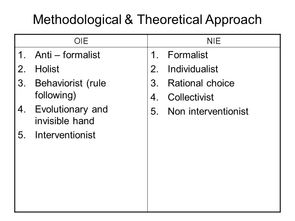 Methodological & Theoretical Approach