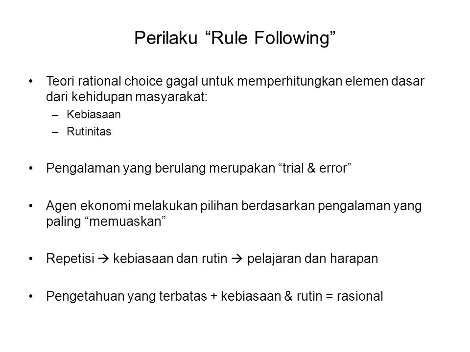 Perilaku Rule Following