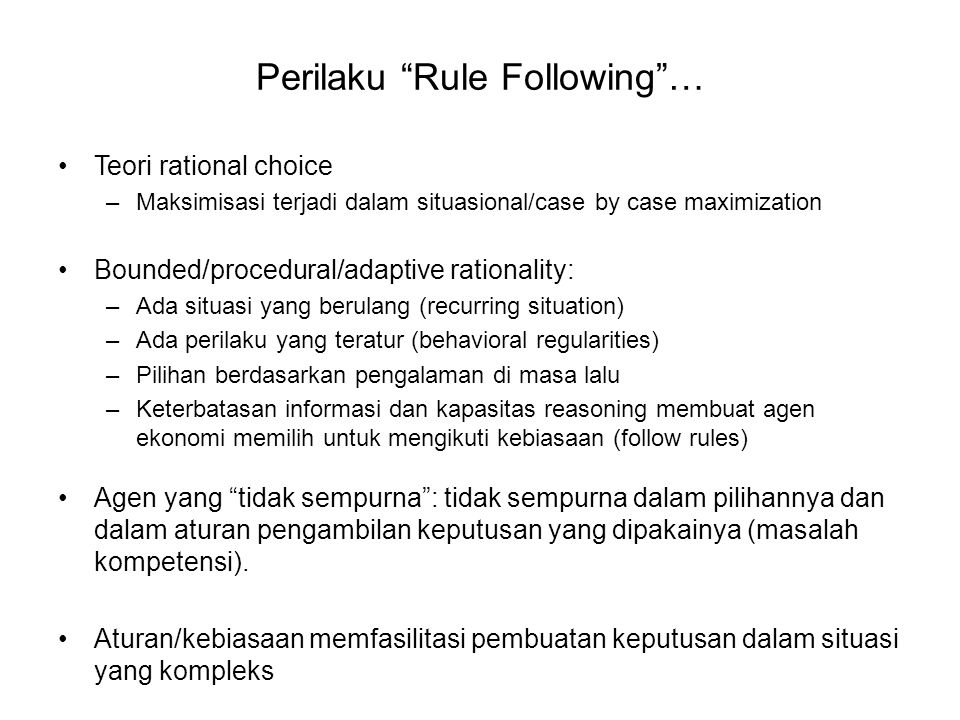 Perilaku Rule Following …