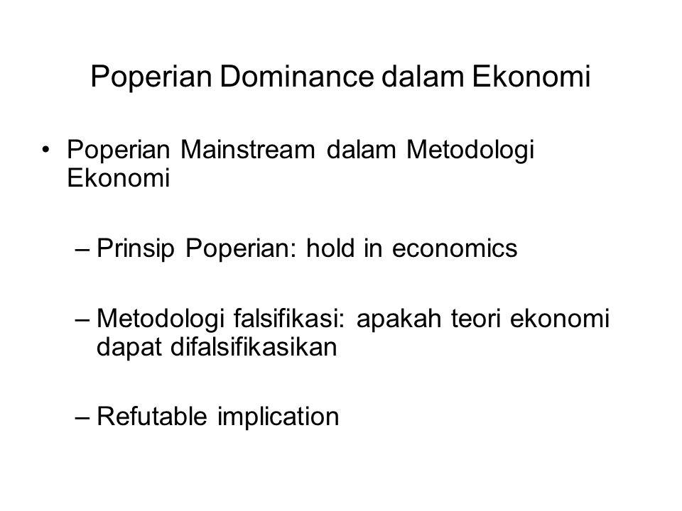 Poperian Dominance dalam Ekonomi