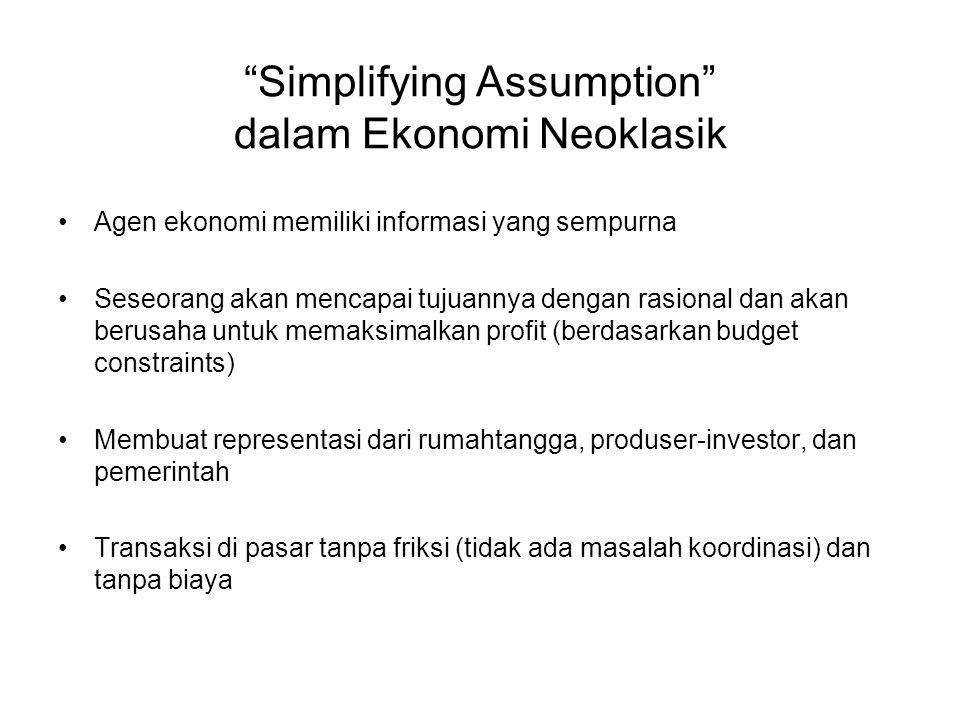 Simplifying Assumption dalam Ekonomi Neoklasik