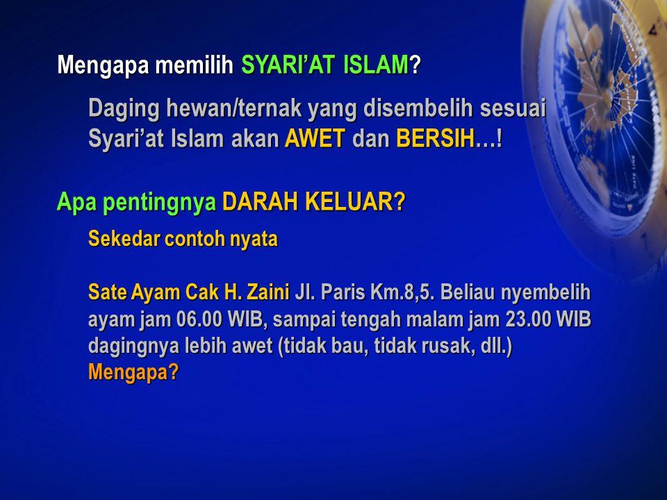 Mengapa memilih SYARI'AT ISLAM