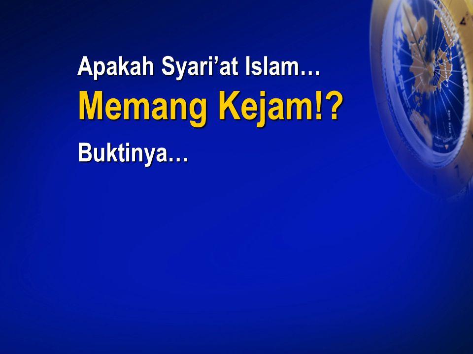 Apakah Syari'at Islam…