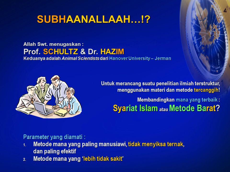 SUBHAANALLAAH…! Syariat Islam atau Metode Barat