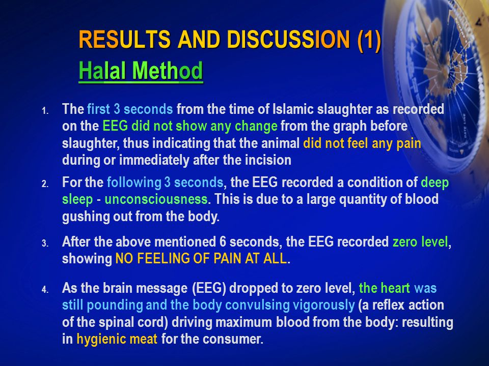RESULTS AND DISCUSSION (1) Halal Method