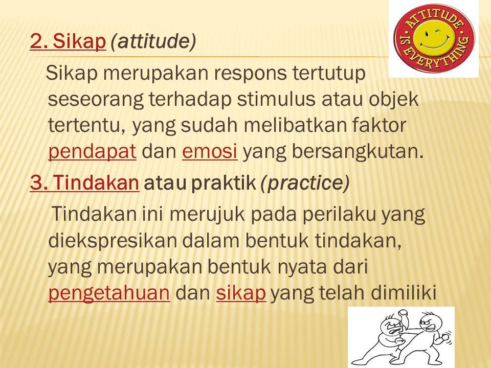 2. Sikap (attitude)
