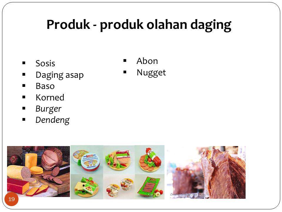 Produk - produk olahan daging