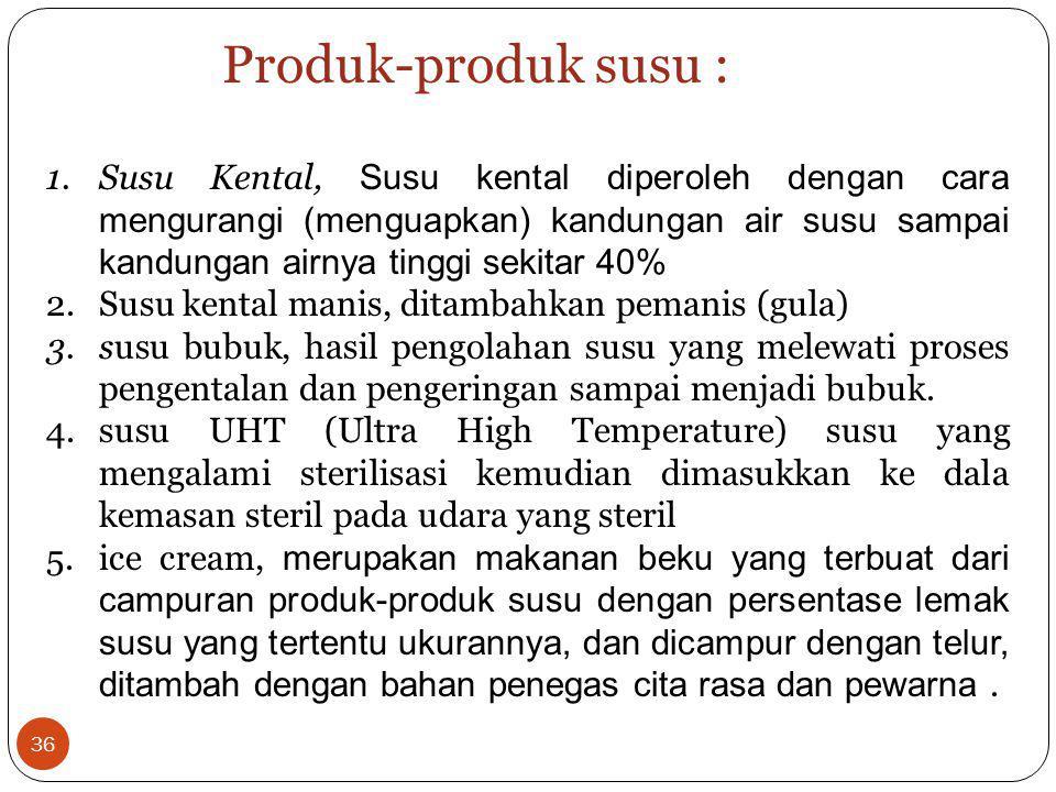 Produk-produk susu :