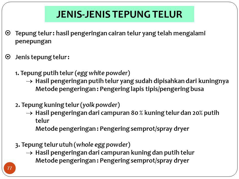 JENIS-JENIS TEPUNG TELUR
