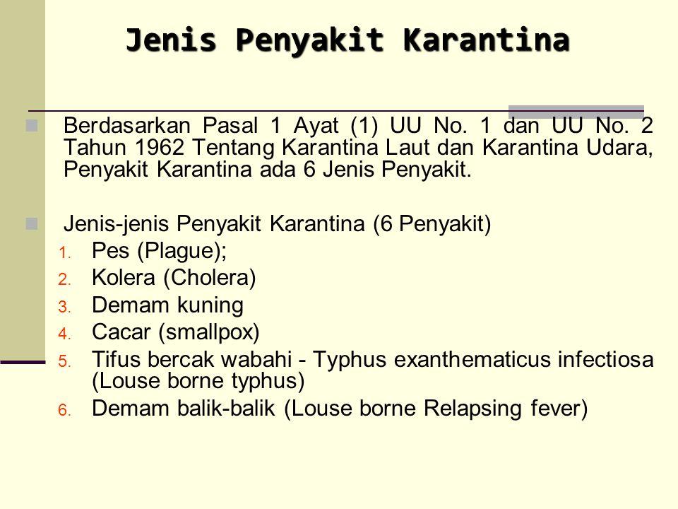 Jenis Penyakit Karantina