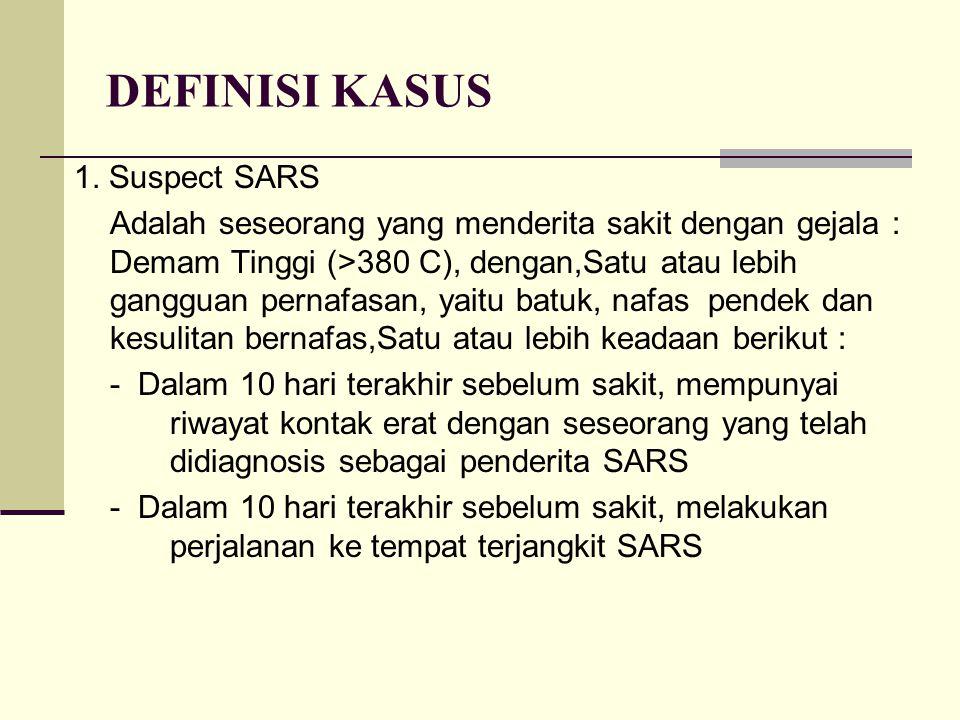 DEFINISI KASUS 1. Suspect SARS