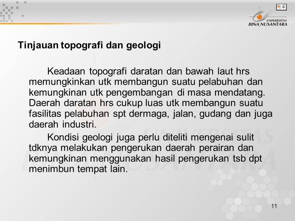 Tinjauan topografi dan geologi