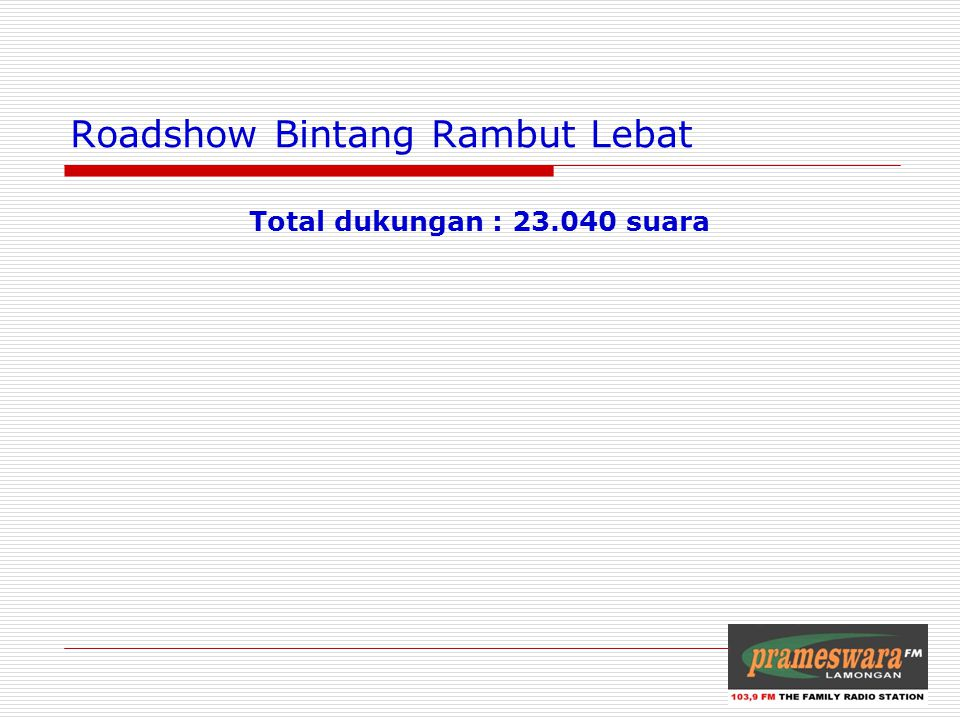 Roadshow Bintang Rambut Lebat