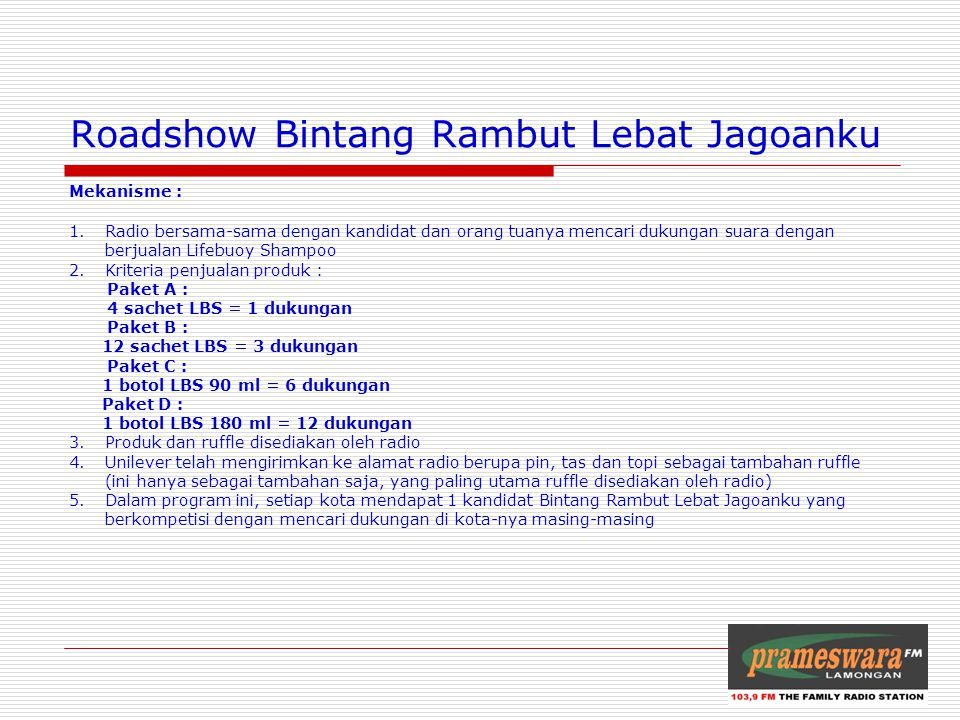Roadshow Bintang Rambut Lebat Jagoanku