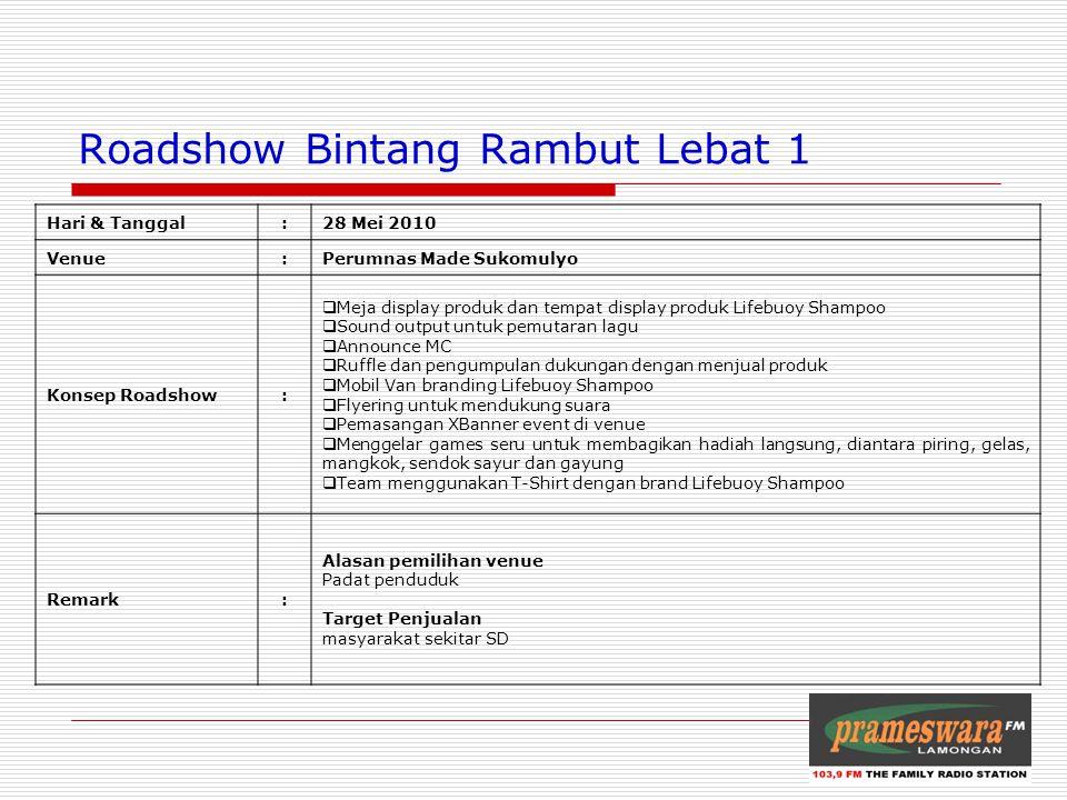 Roadshow Bintang Rambut Lebat 1