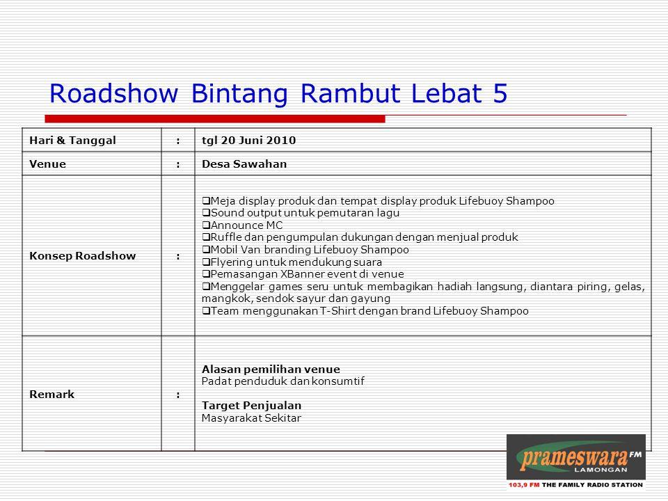 Roadshow Bintang Rambut Lebat 5