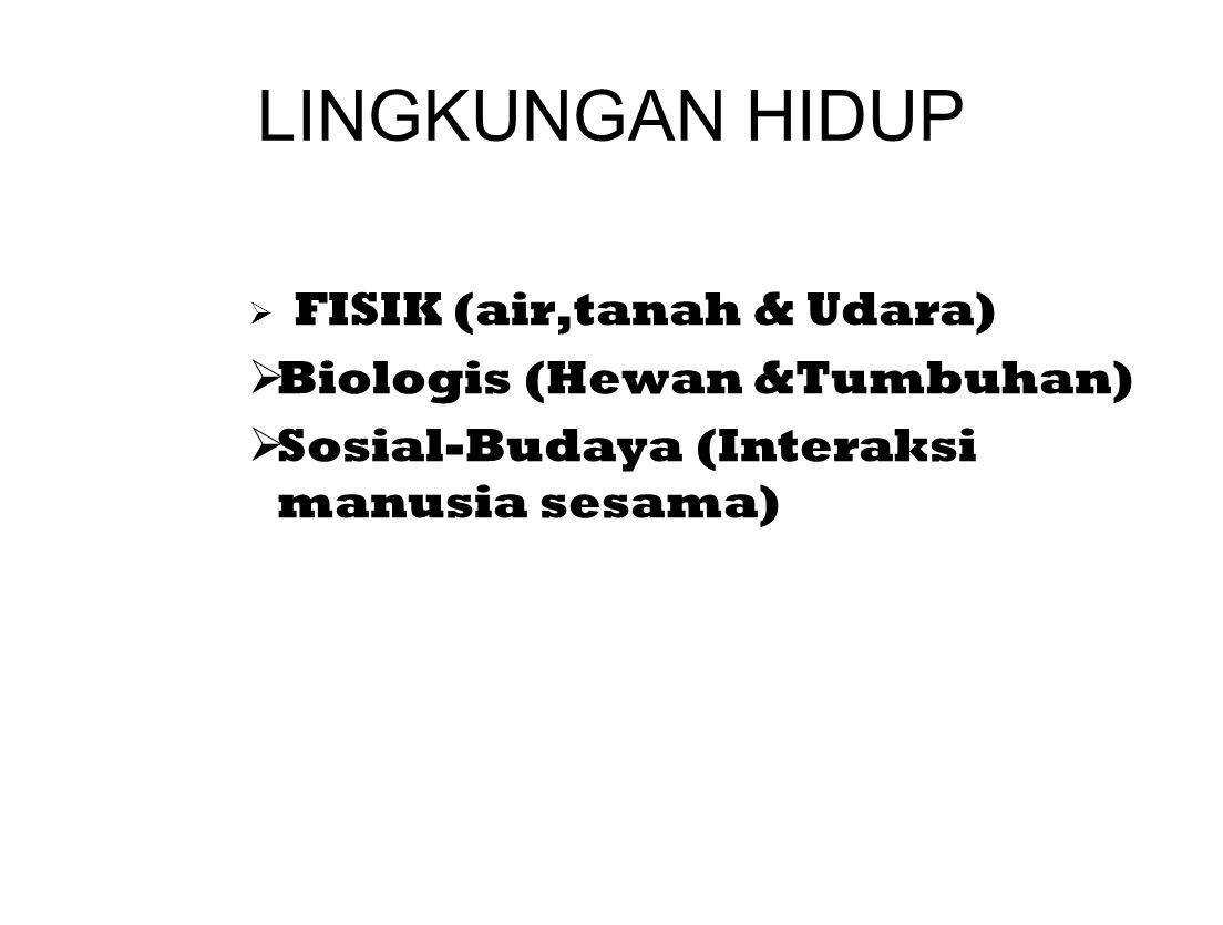 LINGKUNGAN HIDUP Biologis (Hewan &Tumbuhan)