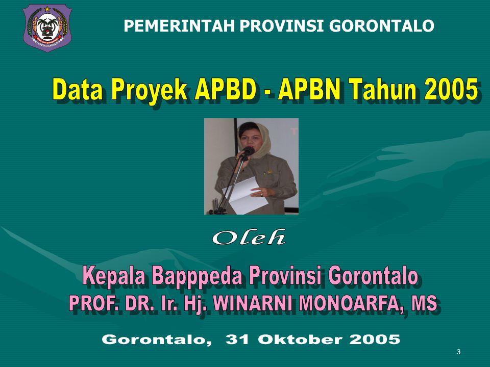 Data Proyek APBD - APBN Tahun 2005