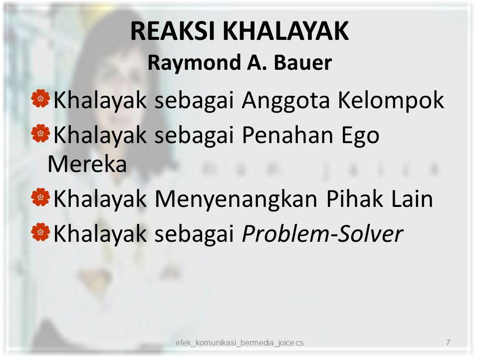 REAKSI KHALAYAK Raymond A. Bauer