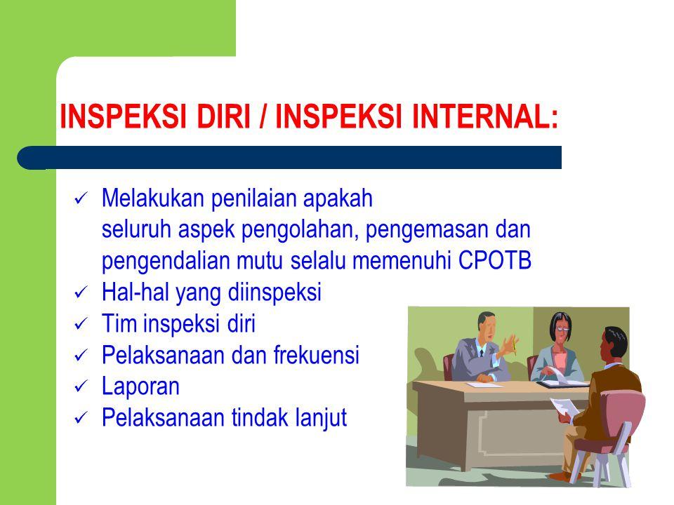 INSPEKSI DIRI / INSPEKSI INTERNAL: