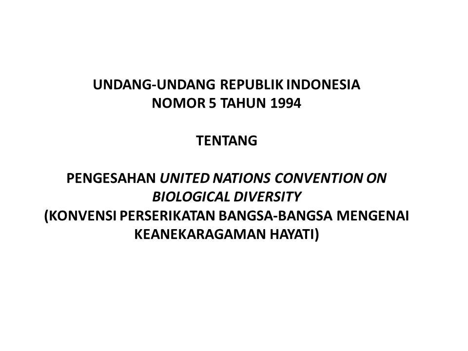 UNDANG-UNDANG REPUBLIK INDONESIA NOMOR 5 TAHUN 1994
