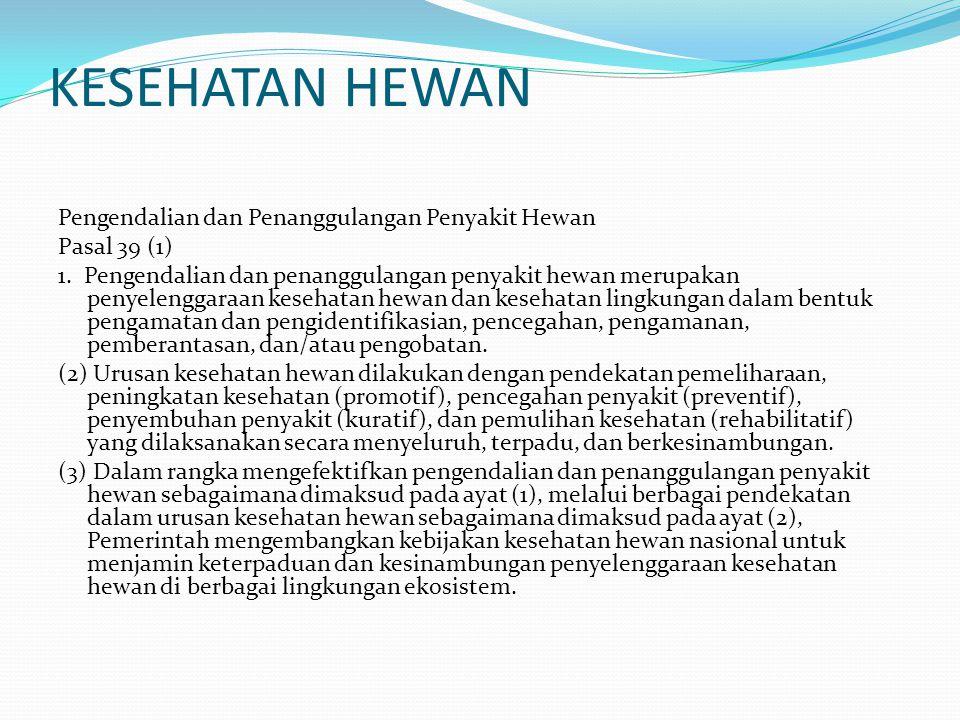 KESEHATAN HEWAN