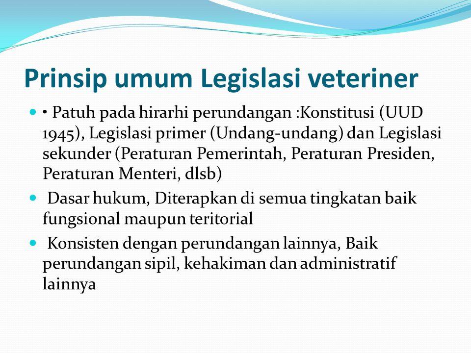 Prinsip umum Legislasi veteriner