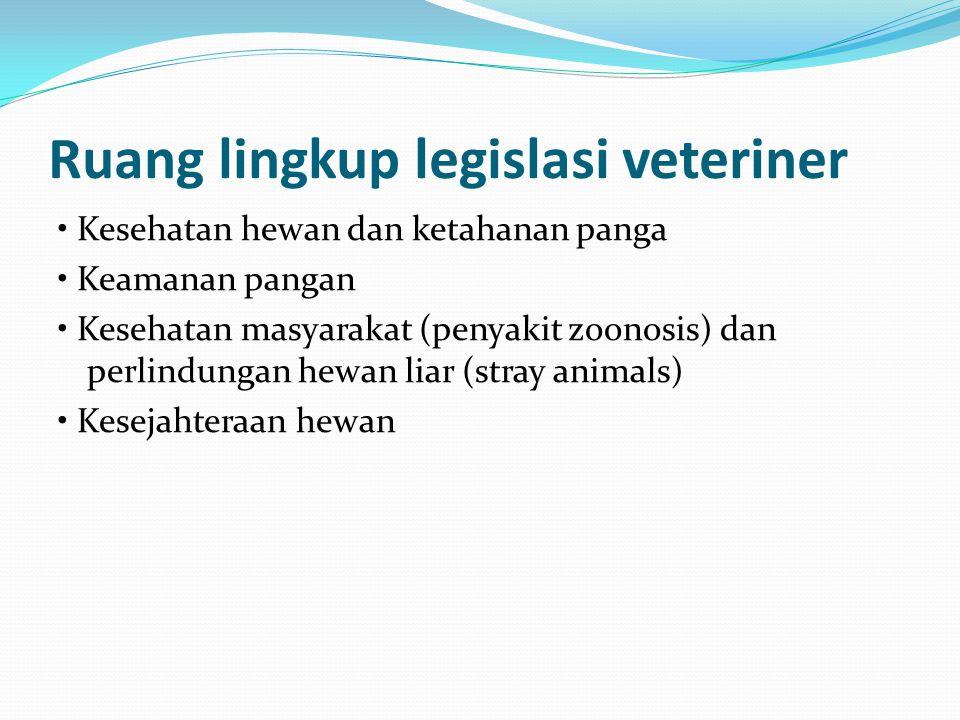 Ruang lingkup legislasi veteriner