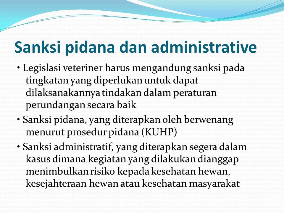 Sanksi pidana dan administrative