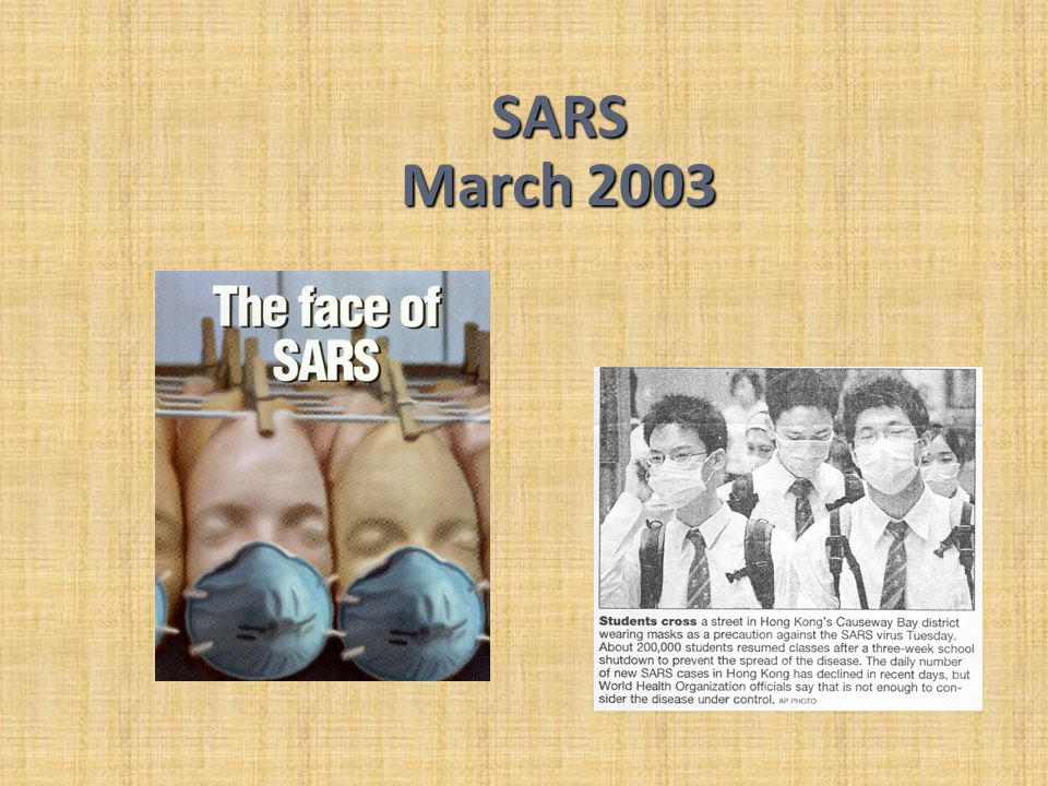 SARS March 2003