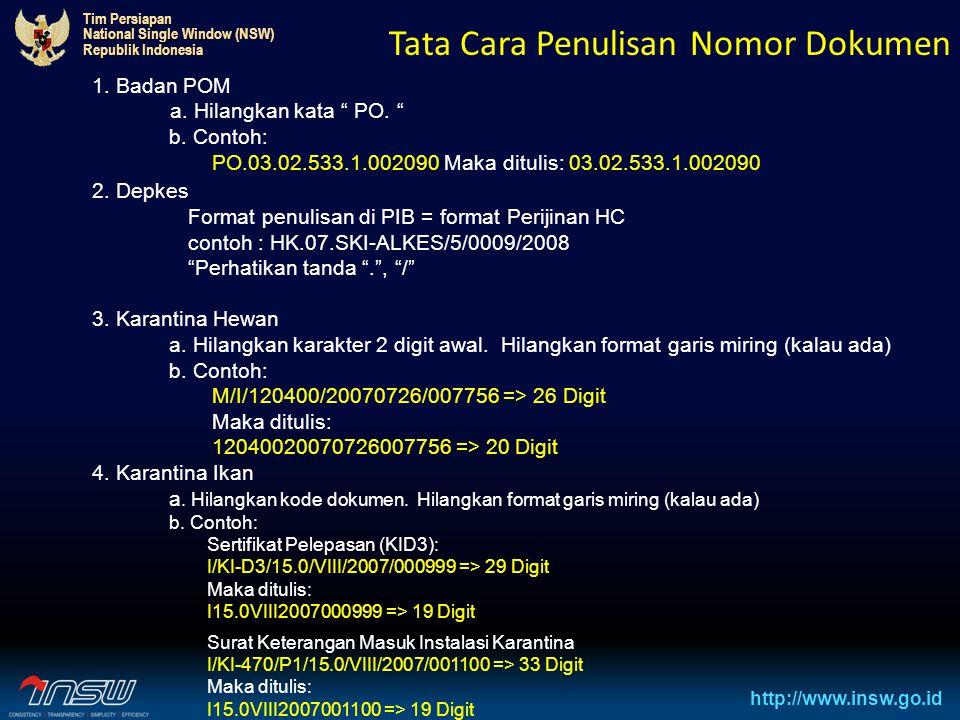 Tata Cara Penulisan Nomor Dokumen