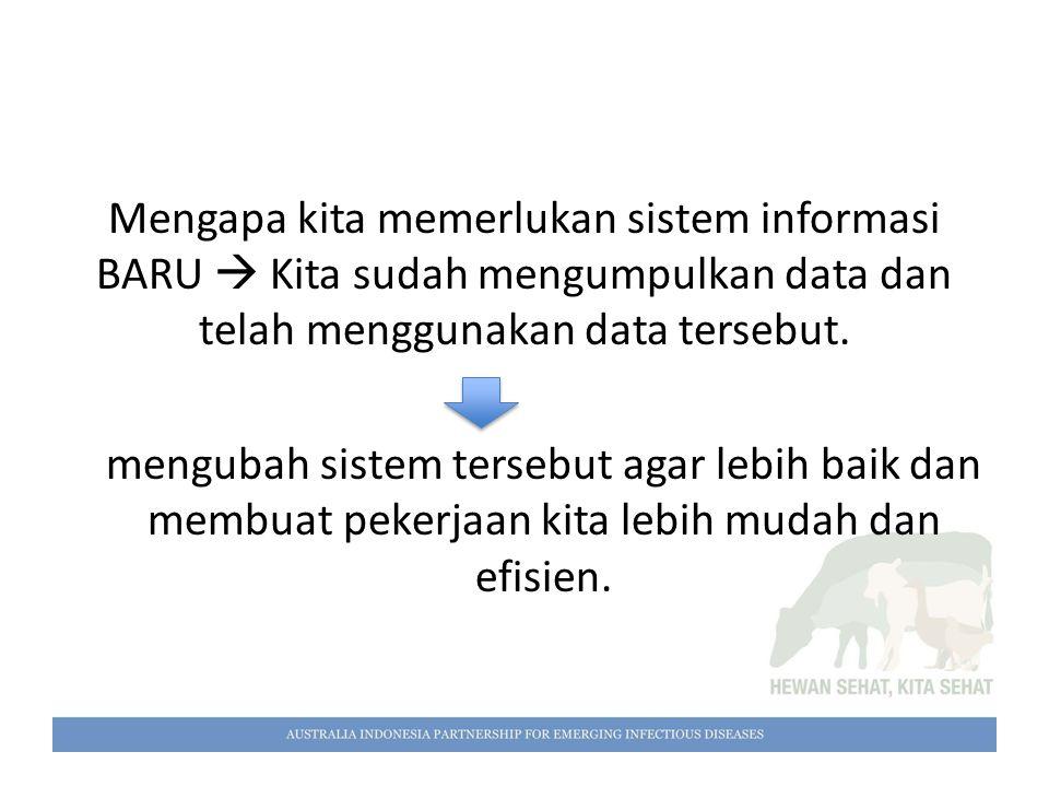 Mengapa kita memerlukan sistem informasi BARU  Kita sudah mengumpulkan data dan telah menggunakan data tersebut.