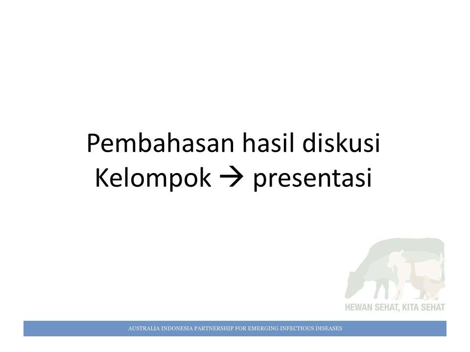 Pembahasan hasil diskusi Kelompok  presentasi