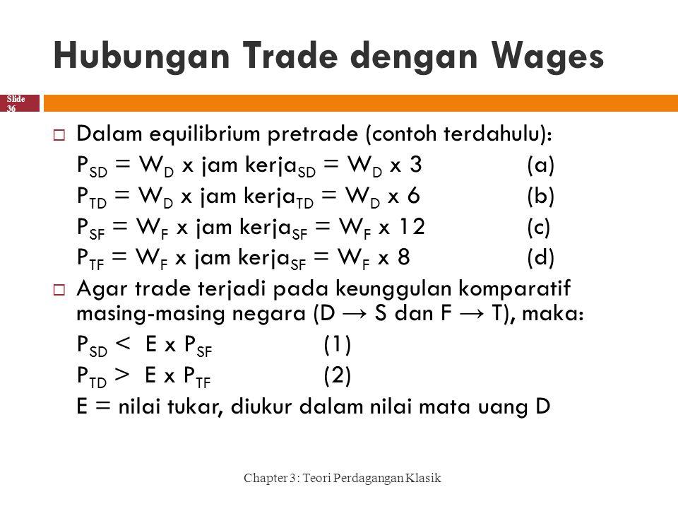 Hubungan Trade dengan Wages