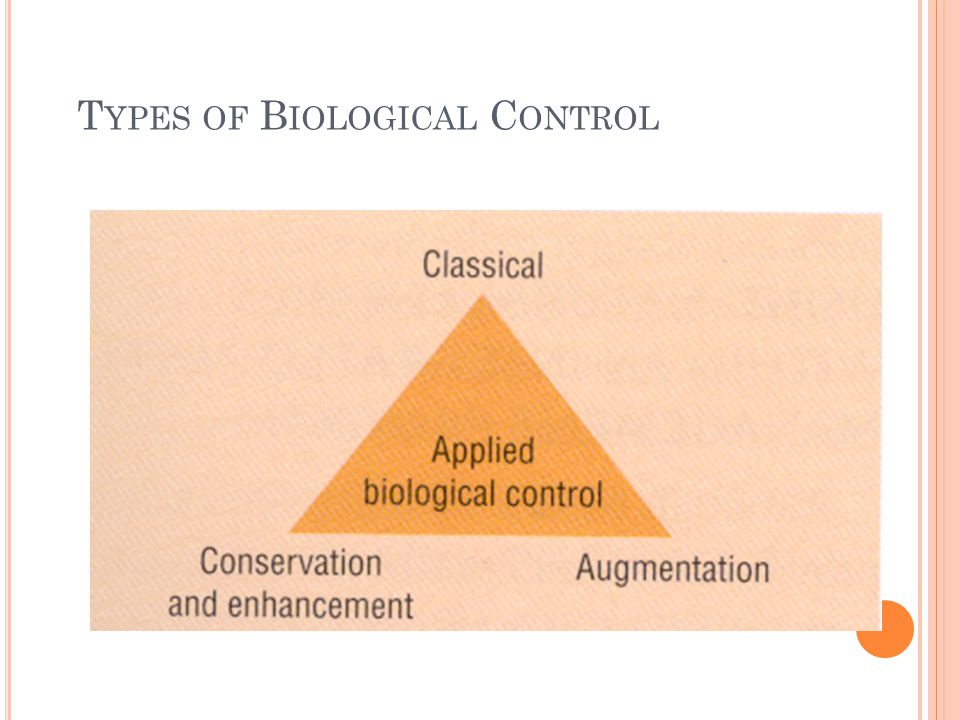 Types of Biological Control