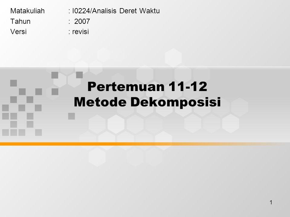 Pertemuan 11-12 Metode Dekomposisi