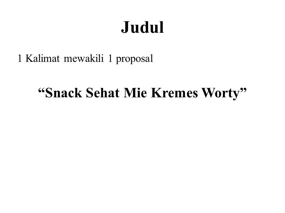 Snack Sehat Mie Kremes Worty