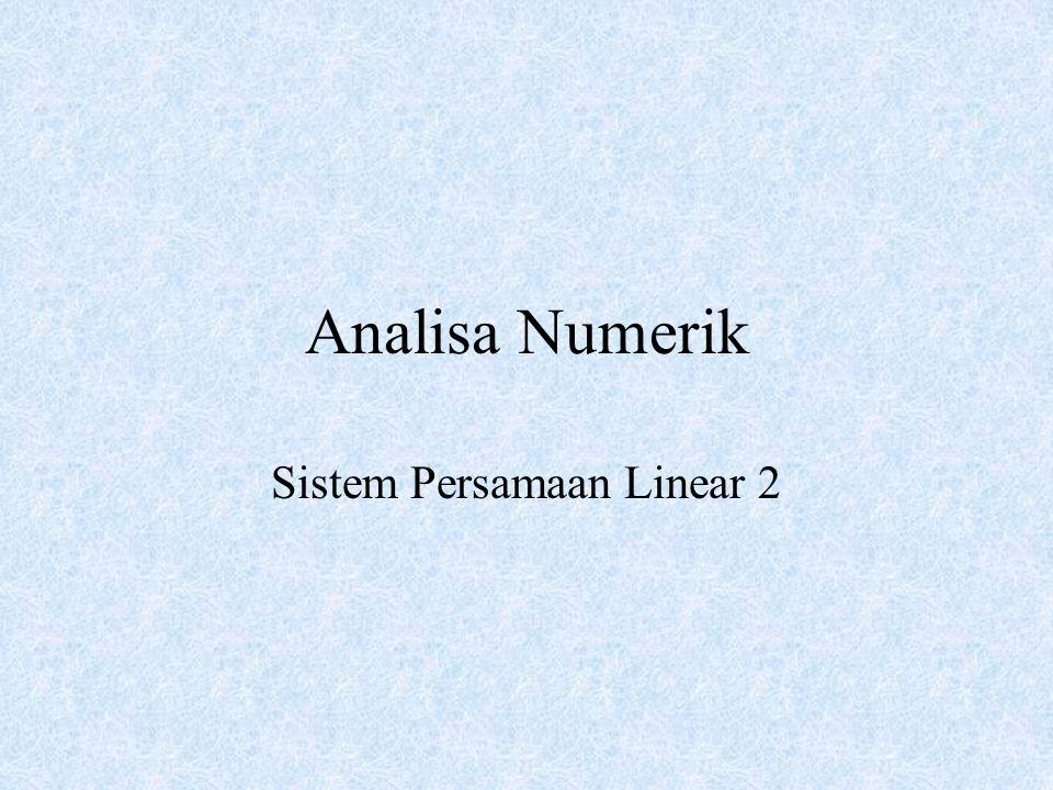 Sistem Persamaan Linear 2