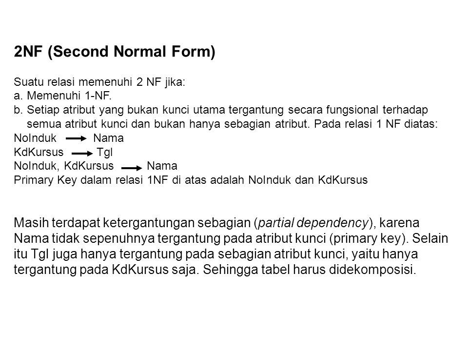2NF (Second Normal Form)